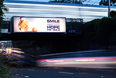 Billboard advertising hope