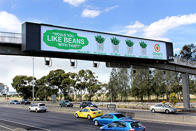 outdoor billboard advertising olivers