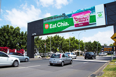 outdoor billboard advertising chia retail